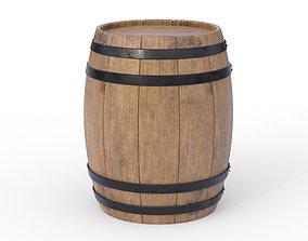 3D model industrial Wooden barrel