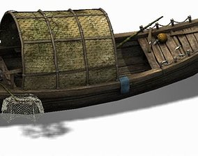 Game Pier - Fishing Boat 2702 3D model