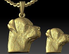 3D print model rottweiler head pendant