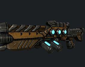 Stylized Handpainted Rifle 3D model