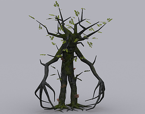 OAK TREE ENT GAME READY ANIMATED MODEL 3D asset