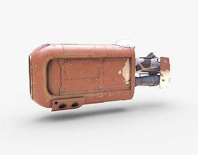 Rey Speeder 3D asset