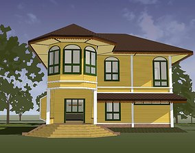 House in Colonial style 3D model