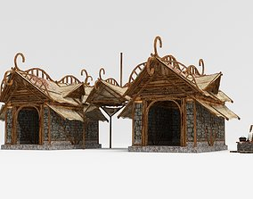 Ancient folk kitchen 3D model