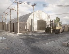 HQ Modular Industrial Area 3D model game-ready
