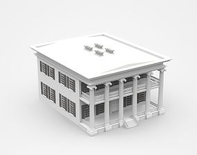 3D model Classic Two-storey Light House With Colonnade