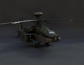 3D model Boeing AH-64 Apache