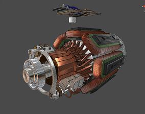 DC electric motor 3D model