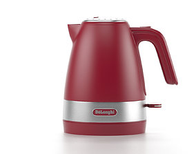 3D Kettle delonghi tepot electric red to turbosmooth