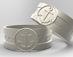 Mens Nautical Ring 3D print model