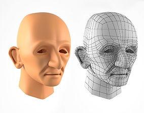 Old Man Head 3d Model VR / AR ready mesh