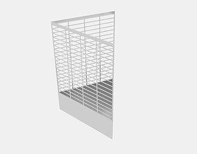 Wireframe Triangle Bin 3D asset