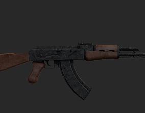3D asset game-ready AK-47