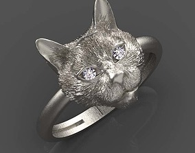 3D print model cat ring jewelry