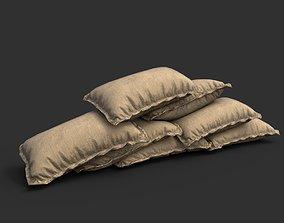 Low poly Sandbag 01 3D asset