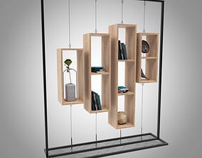 Book Shelf realistic 3D model