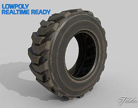3D model Loader tyre dirt