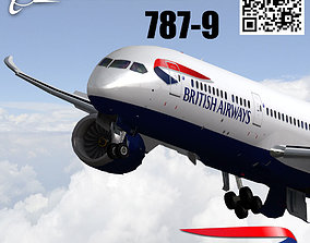 Boeing 787-9 British airways livery 3D model