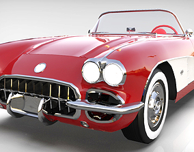 Chevrolet Corvette 1958 3D model low-poly