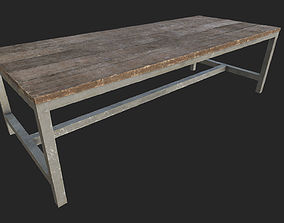 3D model Wooden Table 4 PBR