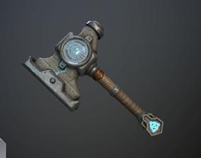 3D model Dwarven blacksmiths hammer with pedestal