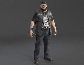 Outlaw Biker Harley Rider 3D