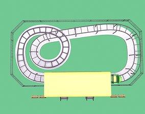 VR / AR ready coaster amusment park Low-poly 3D