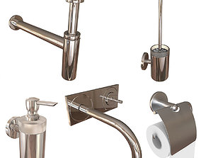 Hasgrohe bathroom set architectural 3D model