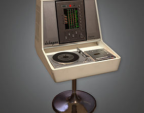 HIFI Audio Player Midcentury Collection PBR Game Ready 3D