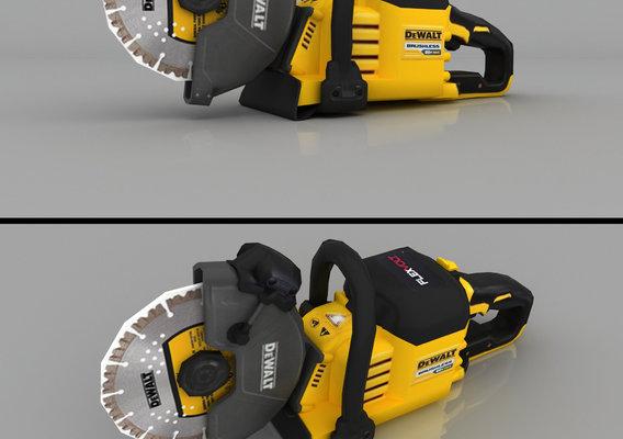 DEWALT Flexvolt 60V Max Brushless Cut-Off Saw Render