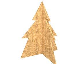 Wooden Christmas Trees v1 001 3D model