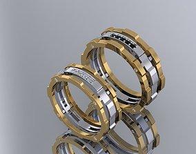 3D print model wedding ring mechanical-mechanism of love