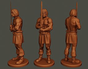 Male Barbarian 2HSword Stand 3D printable model