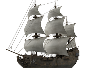 Sailboat Galleon 3D model