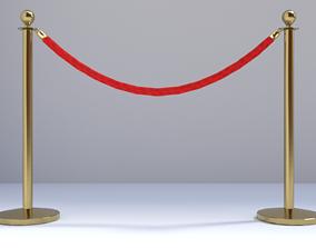 Red carpet guardrail 3D model