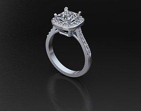 3D print model Gems Rosette Ring