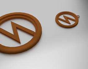 3D print model Glass Coaster Zeus and Pendant