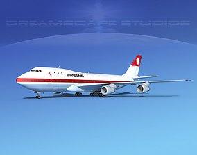 Boeing 747-100 Swissair 3D