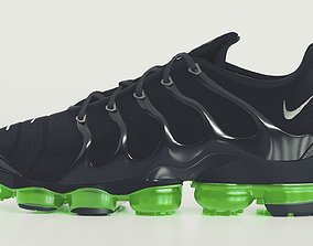3D Nike Air Vapormax Plus Black Bolt