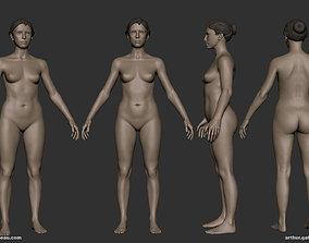 Female Basemesh 3D asset