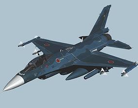Japan Air Self-Defense Force Mitsubishi F-2 3D model 1