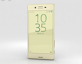 3D Sony Xperia X Performance Lime Gold phone