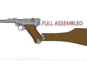 Luger P-08 Artillery 3D model