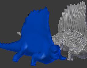 Lizard Iguana Dimetrodon Low Poly GAME READY 3D asset
