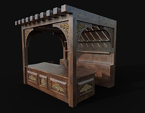 medieval workbench 3D model VR / AR ready