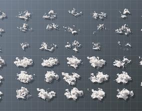 Volumetric clouds set 40 vdb files for render 3D model 3