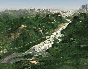 3D model River Valley Terrain