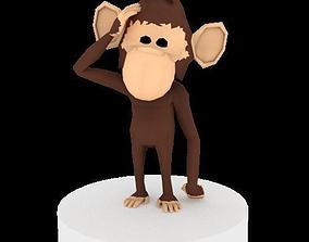 3D model rigged Monkey