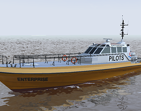 Rotterdam pilot boat Enterprise 3d model low-poly low-poly