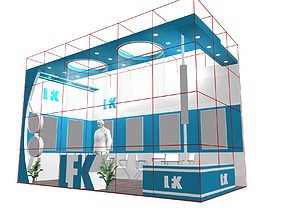 exhibition stall design 6x3 3D
